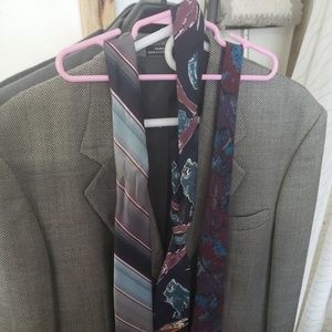 4 mens suit jackets and ties